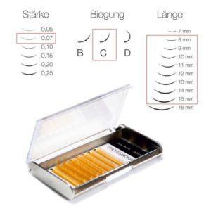 Juliana Lashes – Colour Silk Lashes 5 – 8 File/ Spessore 0,07 / 8-15 mm Lunghezza/ Curva C