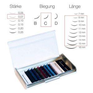 Juliana Lashes – Ombre Silk Lashes 8 File/ Spessore 0,07 / 8-15 mm Lunghezza/ Curva C