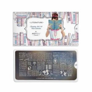 Stamping Schablone MoYou Literatur 01