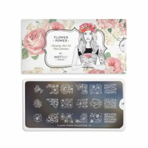 Stamping Schablone MoYou Flower Power 17