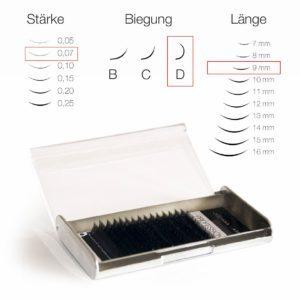 Juliana Lashes – Silk Lashes 16 File/ Spessore 0,07 / 9 mm Lunghezza/ Curva D
