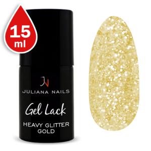 Smalto Gel Heavy Glitter Gold 15ml