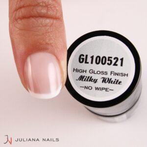 Smalto Gel High Gloss Finish – Milky White – No Wipe 15ml